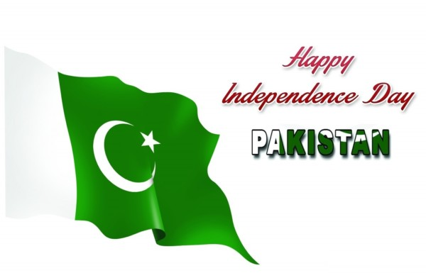 Happy Independence Day Pakistan with flag